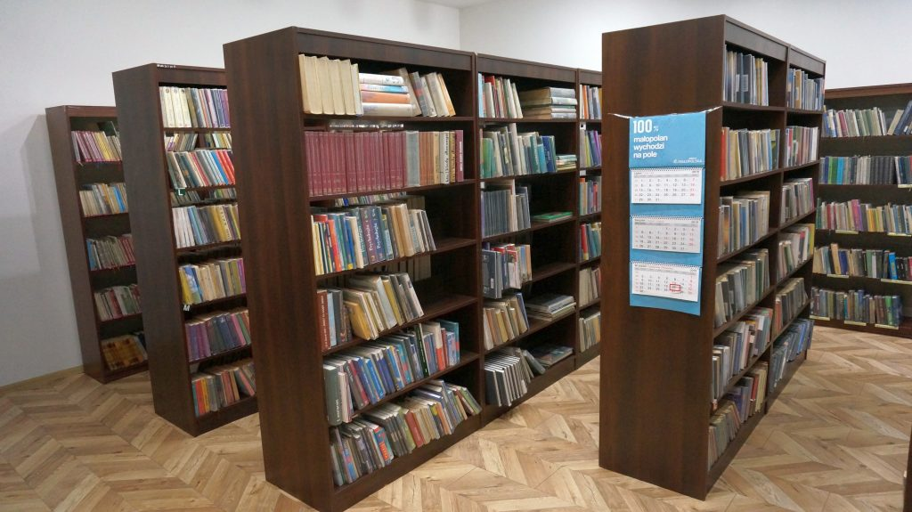 Pomieszczenie z księgozbiorem biblioteki w W.R.
