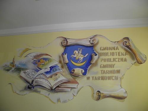 mural w starej siedzibie biblioteki