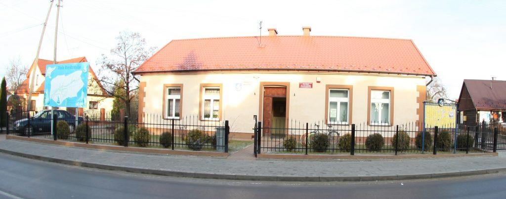 Budynek  biblioteki w Woli Rzędzińskiej